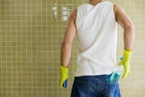 Chicago-Electrician-cleaning-man