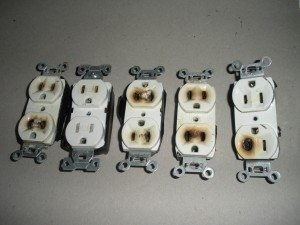 Chicago Electrician Burnt Receptacles